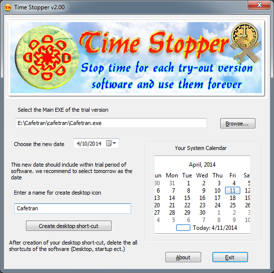 TIME STOPPER: HOW TO USE YOUR TRIAL SOFTWARE FOREVER | My Thought